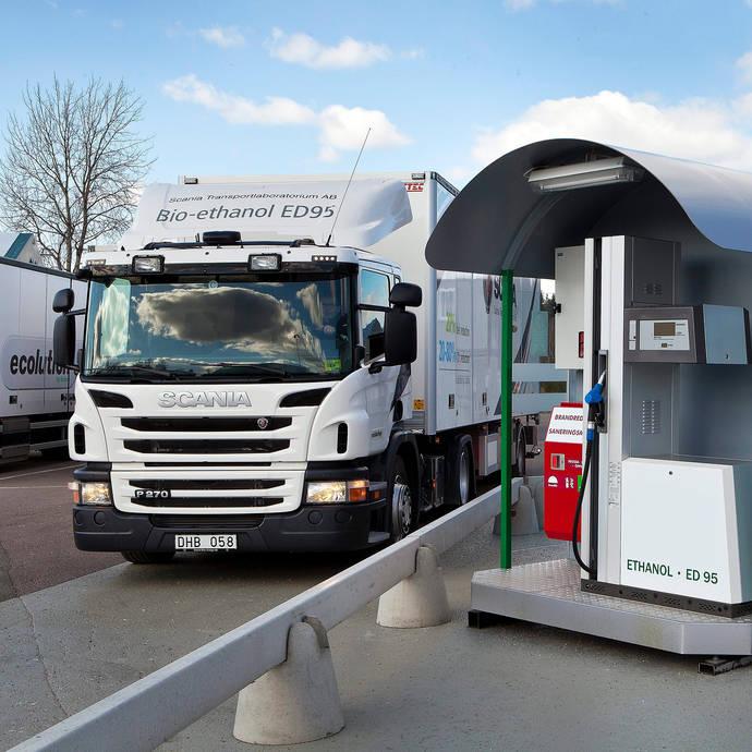 Scania presenta su nuevo motor de bioetanol de 13 litros