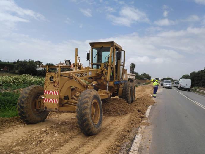 Reanudadas las obras de la vía ciclista de la ruta Eurovelo 8, entre Conil y Los Caños