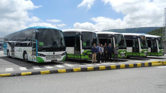 Adquisición de cinco autobuses SB3 de Sunsundegui para Euskotren