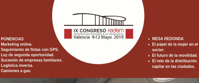 IX Congreso Fedem desgranará los retos del futuro de las mudanzas