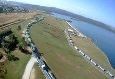 Los transportistas del carbón gallegos siguen reclamando ayudas en Galicia