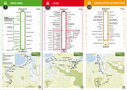 Nuevos folletos informativos de las líneas de autobús de Dbus
