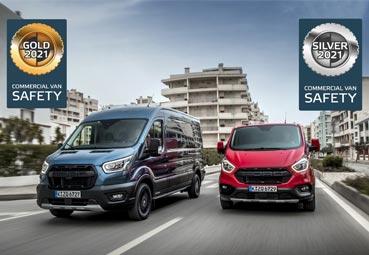 Euro NCAP destaca la seguridad de las Ford Transit y Transit Custom