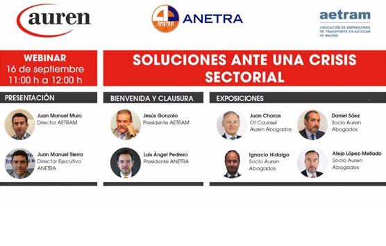 Anetra y Aetram ofrecen a las empresas soluciones para salir de la crisis