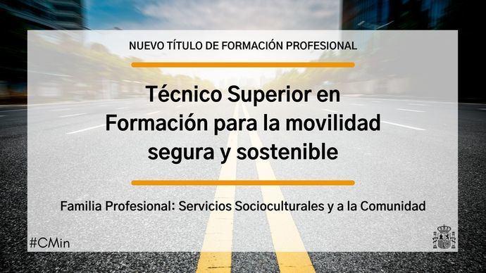 Creado el título de técnico superior para la Movilidad Segura y Sostenible