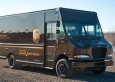 Una de las nuevas furgonetas de UPS.