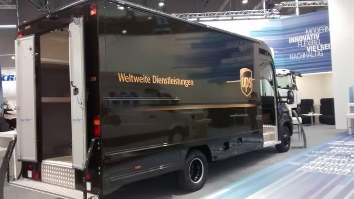 Un furgón de UPS.