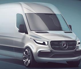 Primeros detalles del nuevo modelo Sprinter de Mercedes-Benz Vans