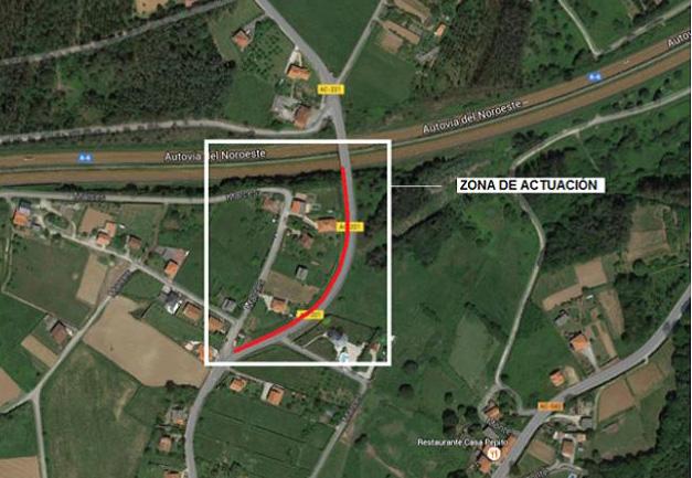 Galicia inicia obras en en la carretera AC-211