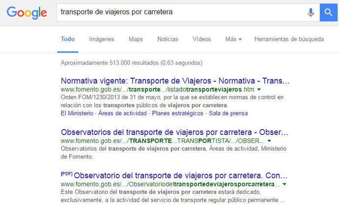El transporte de viajeros y su presencia en Internet