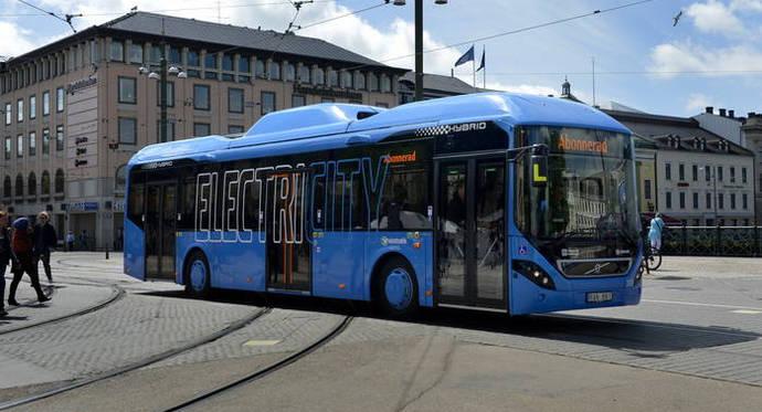Año exitoso para el servicio de autobús eléctrico de Gotemburgo