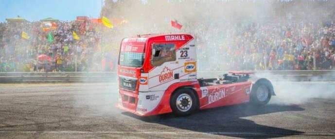 Un camión, durante el GP de España.