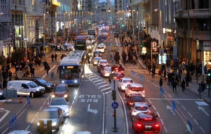 Los chalecos amarillos del transporte discrecional, contra Madrid Central
