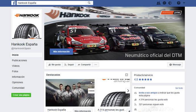 Hankook lanza su página de Facebook en España