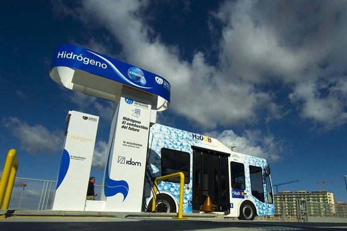 Un transporte urbano 'limpio' con autobuses de hidrógeno
