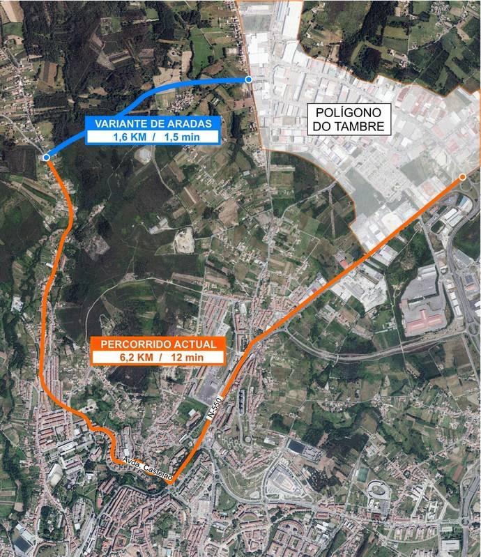 Galicia iniciará las obras de la variante de Aradas a mediados de 2017