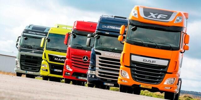 Camiones de las marcas implicadas en el cártel.