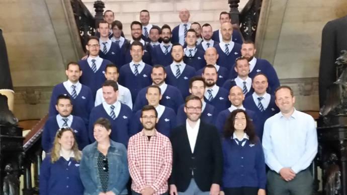 El alcalde de Palma de Mallorca da la bienvenida a los 31 nuevos chóferes de la EMT balear