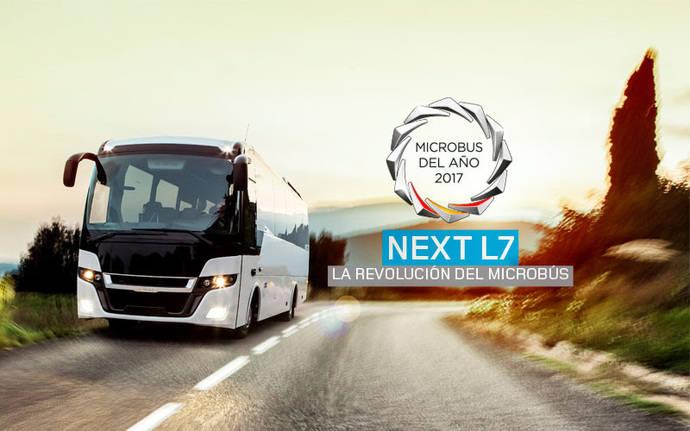 El Next L7 de Indcar recibe el premio Microbús de 2017
