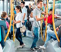 Los usuarios de transporte público aumentan un 1,8% en mayo