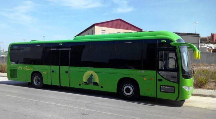 El nuevo autobús adquirido por El Gato.