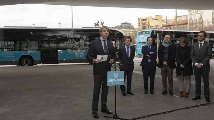 Presentación de la nueva línea de la EMT de Madrid.