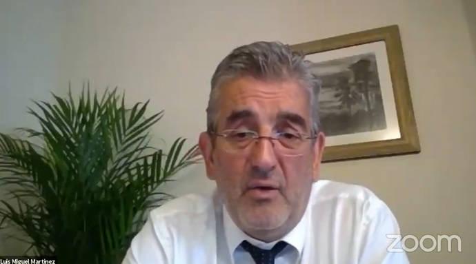 El director gerente del Consorcio Regional de Transportes de Madrid (CRTM), Luis Miguel Martínez.