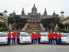 Flota presentada por Seur y Nissan.