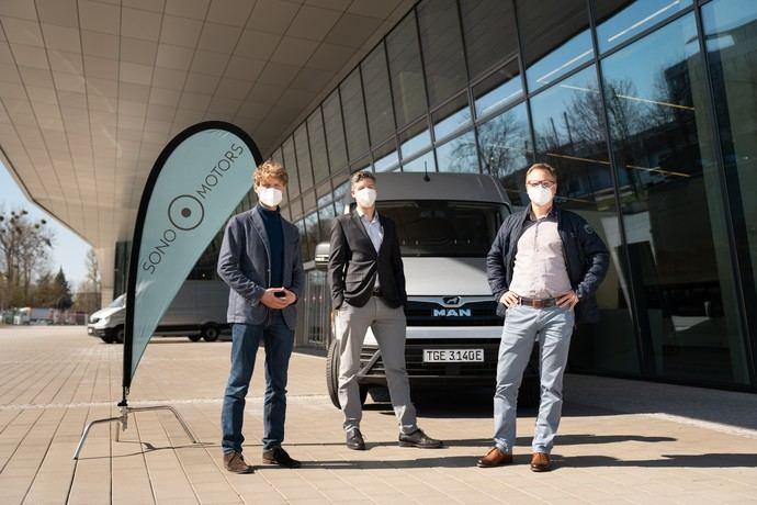 Sono Motors y MAN, a analizar juntos la tecnología solar en vehículos comerciales