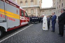 La compañía MAN dona una TGE a los bomberos de Ciudad del Vaticano
