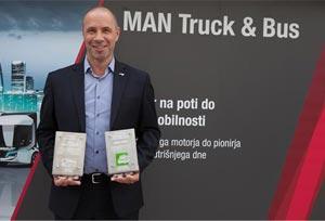 MAN arrasa en los Commercial Vehicle Awards de Eslovenia
