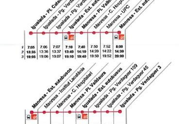 Cataluña crea una línea de bus entre Igualada y Manresa
