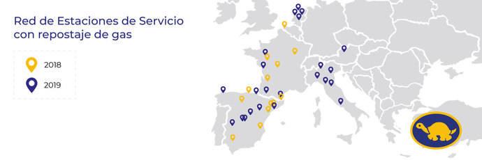 Red Tortuga entra en el negocio del gas, 13 estaciones de servicio en Europa