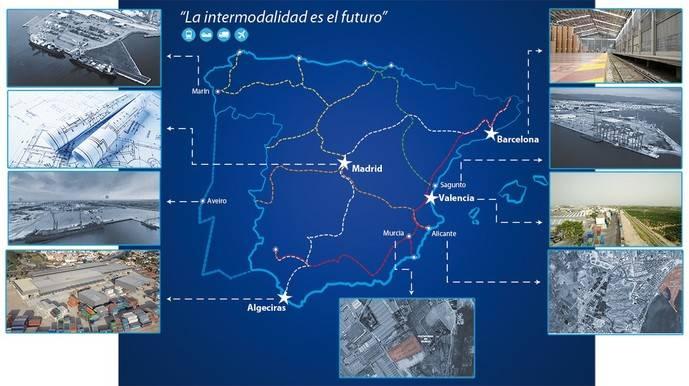 Mapa de la intermodalidad creado por el Grupo Alonso.