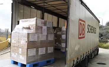 DB Schenker distribuye 100.000 mascarillas a España e Italia