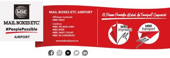 Daos unifica sus cinco centros MBE bajo la marca Mail Boxes ETC Airport