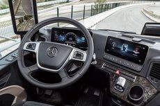 La nueva cabina multimedia de Mercedes-Benz Trucks.