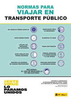 El Ministerio inicia la difusión de que el transporte público es seguro