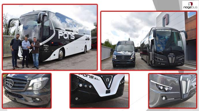 Nogebus entrega un vehículo a Autocares Pons y dos a Hispabus