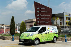 La furgoneta eléctrica Nissan e-NV200 cuatriplica los ahorros de uso a Condis