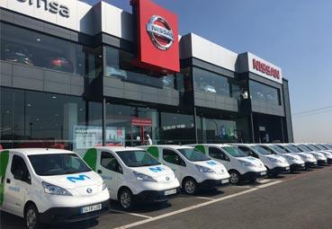 Nissan entrega 10 furgonetas 100% eléctricas a Telefónica