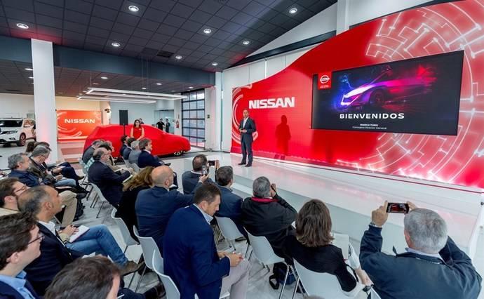 Marco Toro, durante la explicación de los resultados de Nissan.