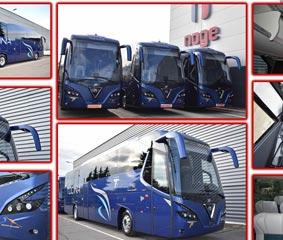 Nogebus entrega tres unidades a Autobuses Tocina