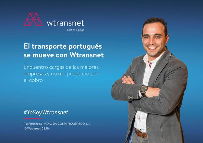 Cartel de Wtransnet en Portugal.