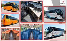Nogebus entrega un autobús a Oscar Díaz y otro a La Unión