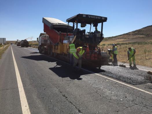 Obras de reparación que abarcan más de 20 km de la CM-410 Mora - Tembleque