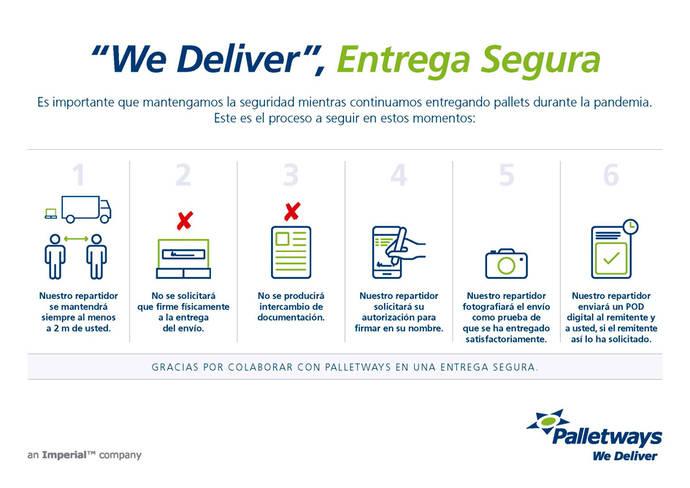 Palletways inicia un nuevo protocolo para las entregas