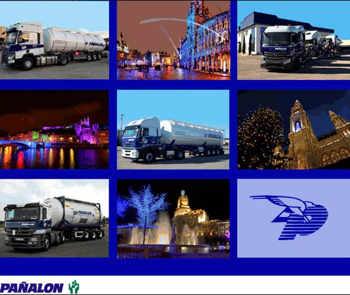 Diversos vehículos de la empresa Pañalon.