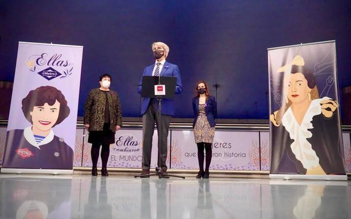 Metro de Madrid homenajea a mujeres relevantes de la historia