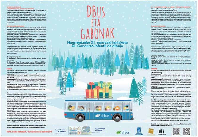 Dbus organiza un concurso de dibujo navideño para niños